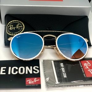 Ray-Ban RB3647N Round Double Bridge 001/40Gold